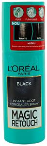 Spray instant pentru camuflarea radacinilor crescute intre colorari 1 Negru L'Oreal 75ml