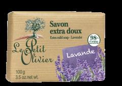 Sapun solid cu lavanda Le Petit Olivier  100 g