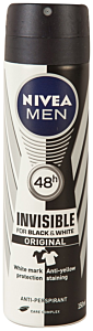 Antiperspirant Invisible Nivea Men 150ml