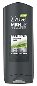 Gel de dus Minerals & Sage Dove Men+Care 400ml