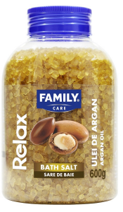 Sare de baie Family Care Relax cu ulei de argan, 600g