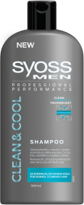 Sampon pentru barbati clean & cool Syoss Men 500ml