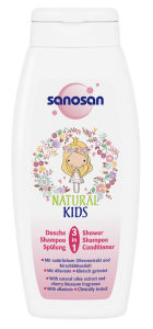 Sampon si gel de dus, Sanosan Kids, 3in1, Fete, 250 ml