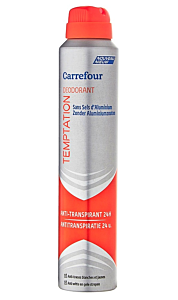 Deodorant antiperspirant Temptation Carrefour 200ml