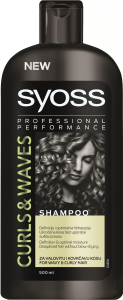 Sampon pentru par ondulat si carliontat curls & waves Syoss 500 ml