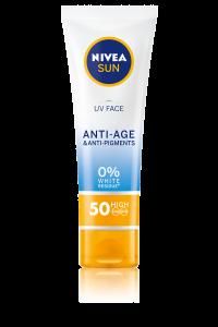 Crema de fata pentru protectie solara si efect anti-rid, Nivea Sun FPS 50, 50ml
