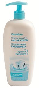 Crema de dus dama cu lapte de bumbac Carrefour 750ml