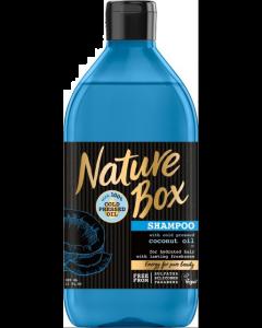 Sampon cu ulei de nuca de cocos presat la rece Nature Box 385 ml