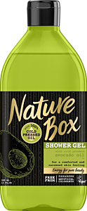 Gel de dus ulei de avocado fara parabeni Nature Box 385 ml