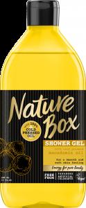 Gel de dus cu ulei de macadamia fara parabeni Nature Box 385 ml