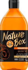Sampon cu ulei de piersica presat la rece Nature Box 385 ml