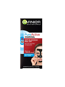 Masca de fata peel-off cu carbune anti-puncte negre Garnier Skin Naturals Pure Active Charcoal 50ml