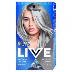 Vopsea de par Live Color Urban Metallics U71 Metallic Silver Schwarzkopf 142,5ml