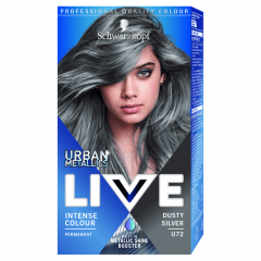Vopsea de par Live Color Urban Metallics U72 Dusty Silver, Schwarzkopf 142,5ml