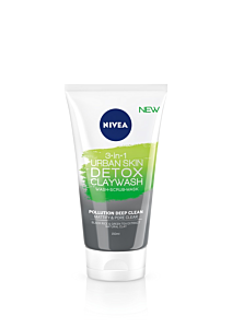 Gel de curatare Nivea Urban Skin Detox 3-in-1 Clay Wash, 150 ml