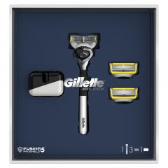 Set cadou aparat de ras Fusion 5 Proshield cu 2 rezerve si suport Gillette