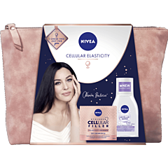 Set cadou Nivea cellular bag: crema de zi Hyaluron Cellular Filler Elasticity 50ml si apa micelara 100ml