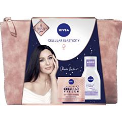 Set cadou Nivea cellular bag: crema de zi Hyaluron Cellular Filler Elasticity 50ml si apa micelara 100ml