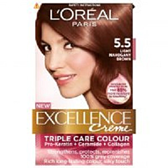 Vopsea de par L'Oreal Excellence 5.5 - Chatain Clair Acajou