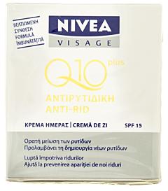 Crema de zi anti-rid Nivea Visage Q10 SPF15 50ml