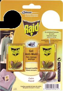 Pastile gel anti-molii Raid cedru 2buc