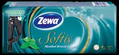 Batiste nazale Zewa Softis Menthol, 4 straturi, 10x9 bucati