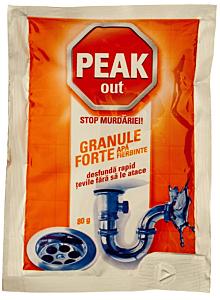 Plic granule pentru desfundat tevile Peak 80g
