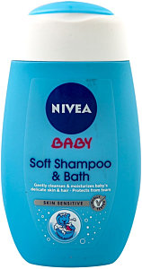 Sampon & Spuma de baie Nivea Baby Skin Sensitive 200ml