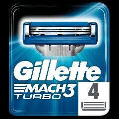 Rezerve aparat de ras Gillette Mach3 Turbo, 4 bucati