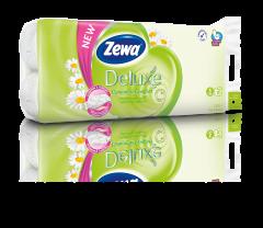 Hartie igienica Zewa Deluxe Camomile comfort, 3 straturi, 10 role