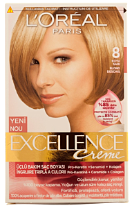 Vopsea de par L'Oreal Excellence 8 - Blond Naturel