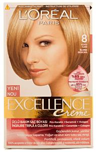 Vopsea de par L'Oreal Excellence 8 - Blond Naturel