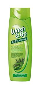 Sampon pentru par gras cu extract de plante Wash&Go Volume Plus 400ml