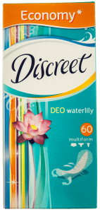 Pachet economic Absorbante zilnice Discreet Deo Waterlily Multiform 60buc