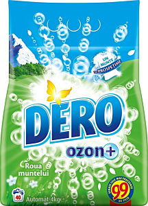 Detergent automat pudra Dero Ozon+ Roua Muntelui, 40 spalari, 4 kg