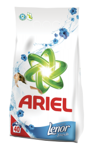 Detergent automat pudra Ariel Touch of Lenor 4 Kg, 40 spalari