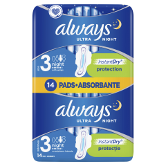 Pachet Duo absorbante Always Ultra Night Micro Touch 14buc