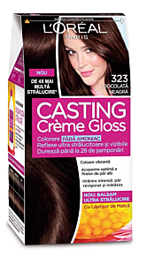 Vopsea de par L'Oreal Casting Creme Gloss 323 - Ciocolata Neagra