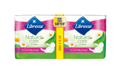 Absorbante Libresse Natural Care  Normal Duo 20 bucati