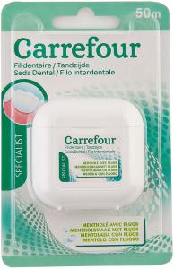 Ata dentara mentolata cu fluor Carrefour 50 m