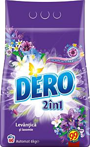 Detergent automat pudra Dero 2in1 Lavanda, 60 spalari, 6 kg