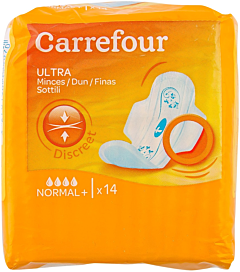 Absorbante ultra normale plus Carrefour 14 buc