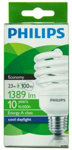 Bec economic compact fluorescent 23W-100W E27 Philips Economy