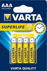 Baterii alcaline Varta SuperLife AAA(R3) set 4bucati