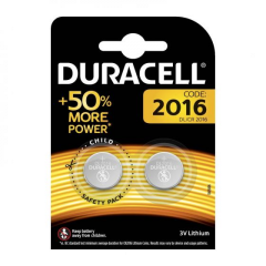 Baterie Duracell CR2016 3V litiu 2 bucati