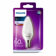 Bec Philips Led B35 60W E14 4000K MAT