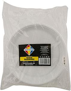 Farfurii din plastic albe 17cm Romdist Premium Packaging 50buc