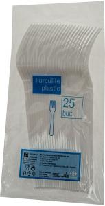 Furculite plastic Carrefour 25buc