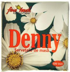 Servetele de masa Denny 1 strat 33x33cm albe 100buc