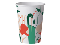 Set de 15 pahare biodegradabile artwork 240ml